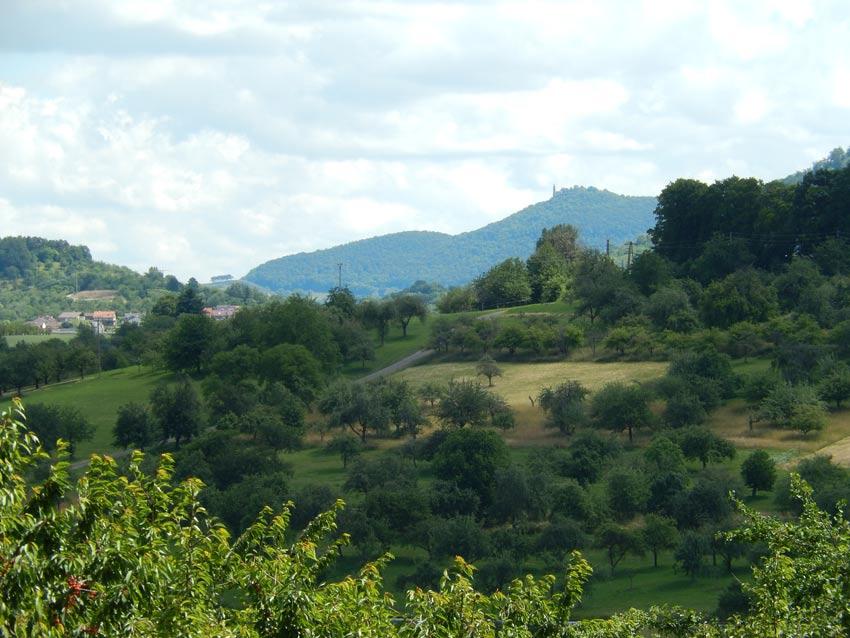Ferienwohnung Neuffen Blick zur Burg Teck
