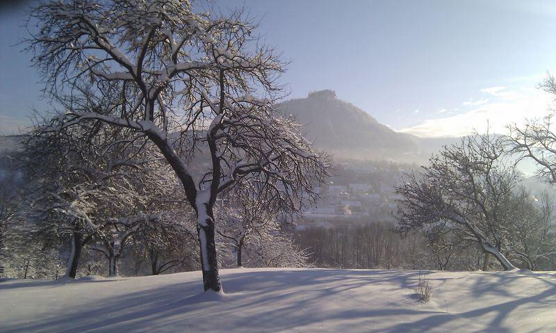 Hohen Neuffen in Winter